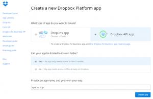 Create-app-Dropbox